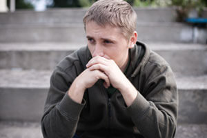 Man thinking about Narcotic rehab
